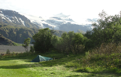 Slyppugil Campsite in Thorsmork South Iceland